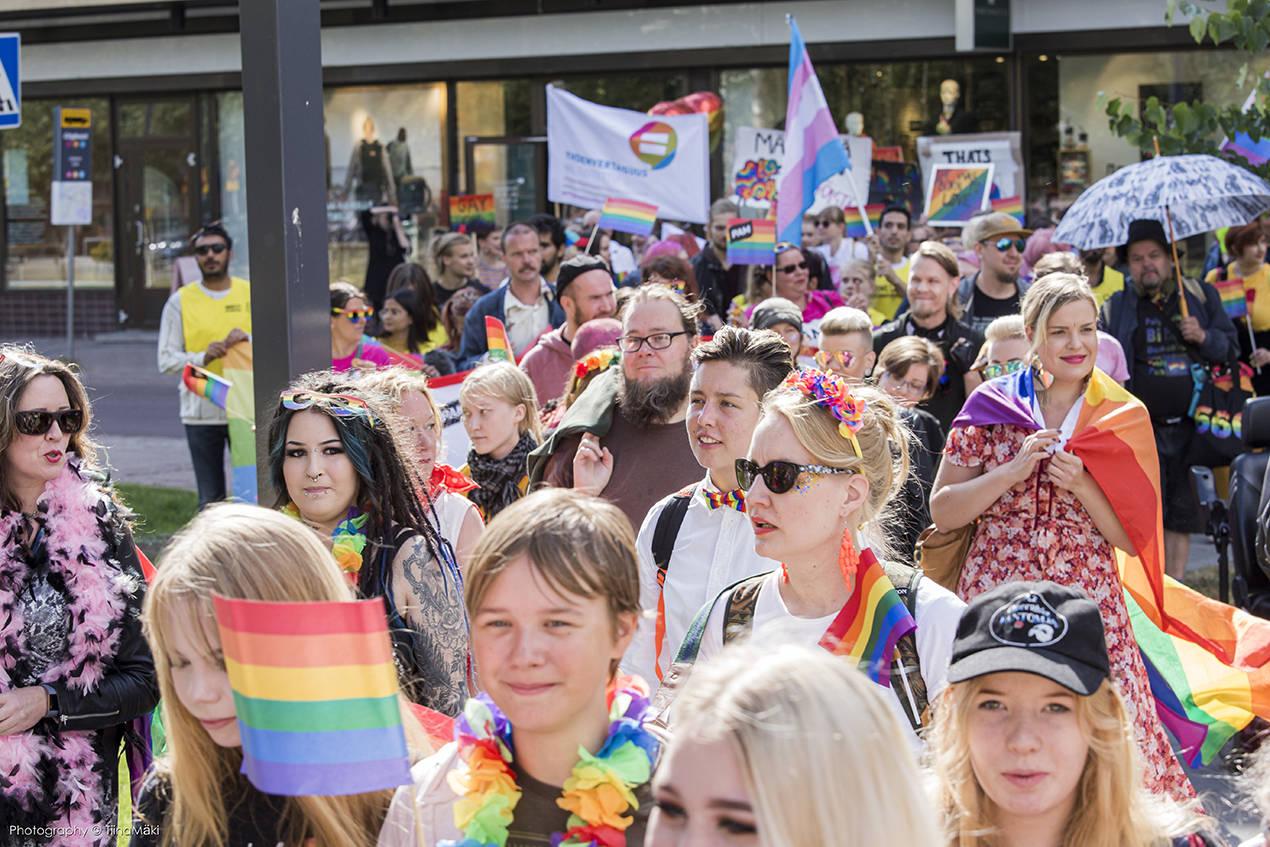 Oulu Pride 2019 kulkue