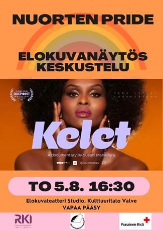 Nuorten Pride: Elokuvanäytös, keskustelu - Kelet, to 5.8. 16:30, elokuvateatteri Studio, Kulttuuritalo Valve. Vapaa pääsy.
