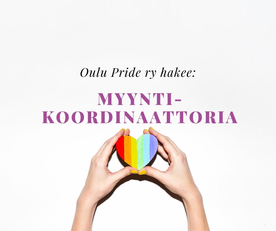 Oulu Pride ry hakee myyntikoordinaattoria.